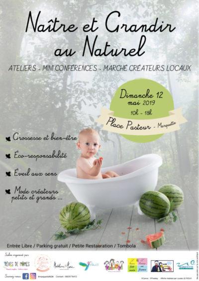 Afiche Naitre et Grandir - salon bébé baby lille