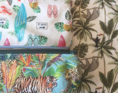 tissu jungle - plage rêves mômes
