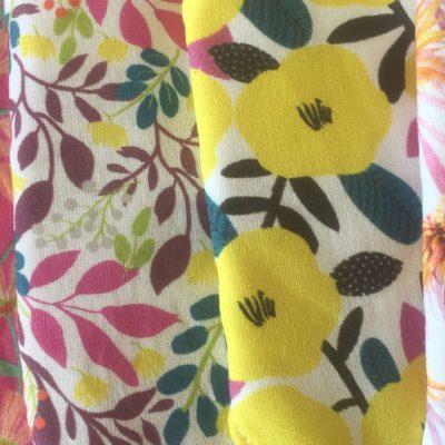 tissu rêves momes fleurs - ananas