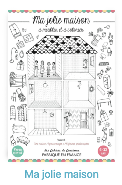 Maison poupée a construire coloriage